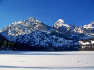 Taggart Lake in the winter