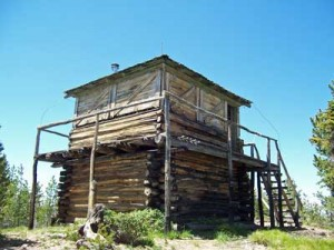 The Huckleberry Mountain fire lookout, photographed June 30, 2007.