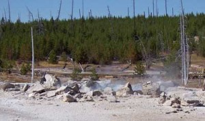 Pork Chop Geyser, photographed on September 7, 2005.