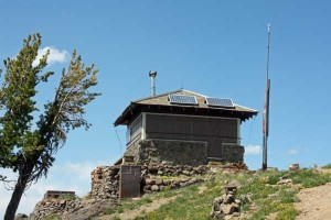 The fire lookout atop Mt. Sheridan, photographed August 2, 2008.
