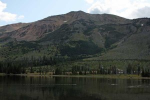 Mt. Sheridan rises above Heart Lake on August 17, 2009.