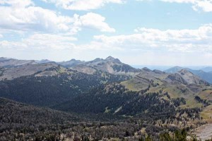 The Gros Ventres seen from Jackson Peak on August 17, 2013.
