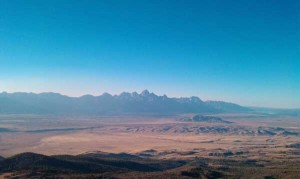 The Tetons seen from Jackson Peak on September 29, 2010.