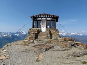 The Swiftcurrent Fire Lookout, photographed August 2, 2014.