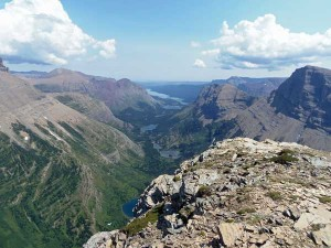 The view toward Many Glacier from the Swiftcurrent Fire Lookout, photographed on August 2, 2014.