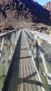 A suspension bridge over the Colorado River.