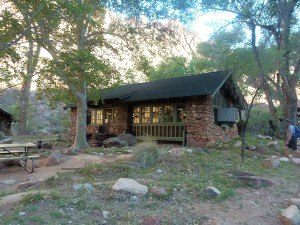 The Phantom Ranch Canteen, where meals are served.