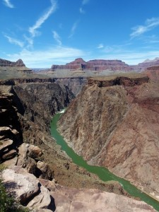The view of the Colorado River from Plateau Point.