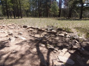 A Pueblo foundation along the Transept Trail.